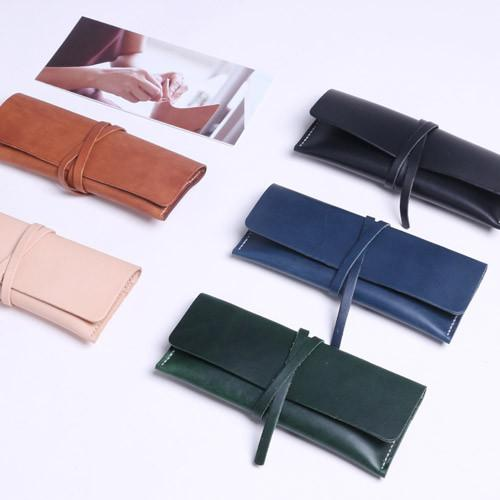 Handmade Genuine leather vintage long wallet clutch purse wallet for women men