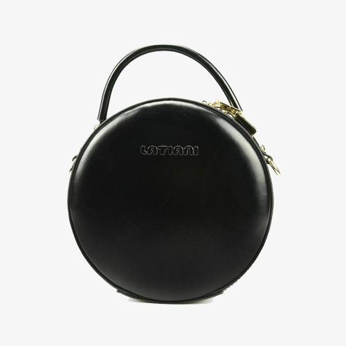Leather Canteen Round Shoulder Bags - Annie Jewel