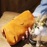 Handmade Genuine Leather Long Wallet Bag Coin Purse Clutch For Women