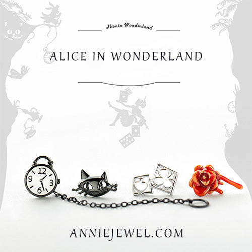 Unique Cat Silver Stud Earrings - Annie Jewel