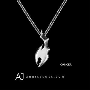 Silver Necklace Unique Cancer Zodiac Astrology Constellation Charm Chokers Gift Jewelry Accessories Women Christmas