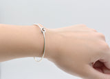 Sterling Silver Bracelets Minimal Knot Cuff Bangle Handmade Bracelets Gift Jewelry Accessories Women