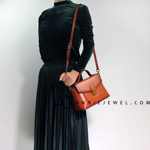 Women Brown Leather Satchel Bag Handbags Shoulder Crossbody Bags Purse