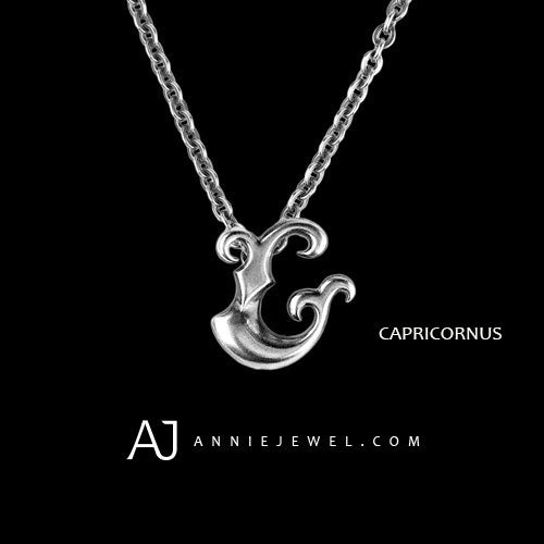 Silver Necklace Capricornus Spirit Zodiac Astrology Constellation Charm Chokers Gift Jewelry Accessories Women Christmas