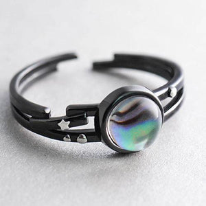 Silver Ring Galaxy Astrology Star Statement Ring Minimal Adjustable Ring Wrap Gift Jewelry Accessories Women