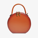Leather Circle Round Shouler Bags - Annie Jewel