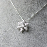 Necklace Silver Snowflake Cute Charm Pendant Choker Necklace Christmas Gift Jewelry Accessories Women - Annie Jewel