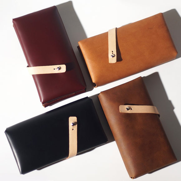 Genuine Leather Wallet Folded Long Wallet Cards Wallet Clutch Purse Clutch Bag for Womens