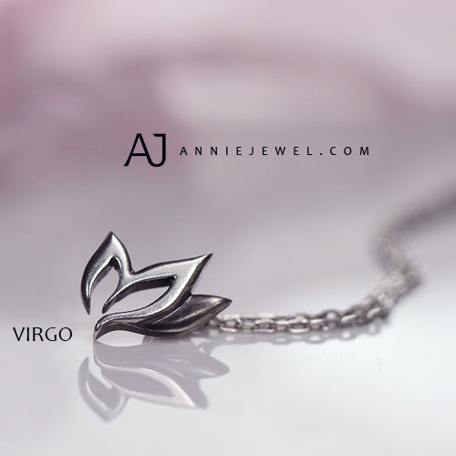 Silver Necklace Unique Virgo Zodiac Astrology Constellation Charm Chokers Gift Jewelry Accessories Women Christmas - Annie Jewel