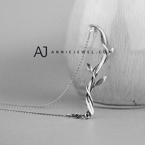 Sterling Silver Vintage Necklace Handmade Branch Charm Necklace Gift Jewelry Accessories Girls Women