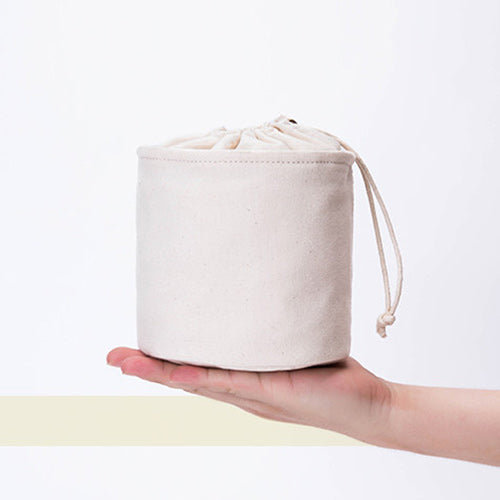 "5"" Canvas Drawstring Bucket Bag Inner Storage Organizer Pouch Insert Purse Pocket - Annie Jewel"
