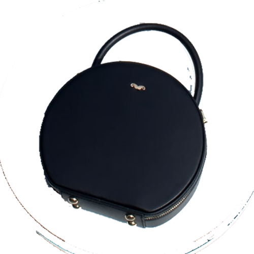 Leather Circle Bag Round Purse - Annie Jewel