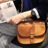 Brown Leather Satchel Bag Brown Leather Shoulder Bags Crossbody Bag Purses - Annie Jewel