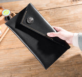Genuine Leather Handstitched Wallet Clutch Long Wallet Handmade Card Wallet Purse women mens