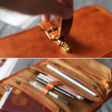 Leather Long Wallet Tool Bag Purse