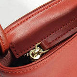 Genuine Leather Handmade Handbag Bamboo Crossbody Bag Shoulder Bag Purse Clutch For Women