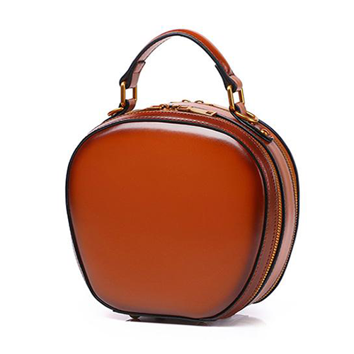 Round Leather Purse Circle Cross Body Bag - Annie Jewel