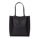 "Soft Leather Vertical 12"" Tote Shopper Bags - Annie Jewel"