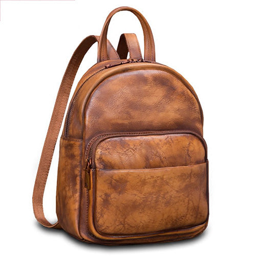 Small Leather Backpack Travel Bag Purse - Annie Jewel