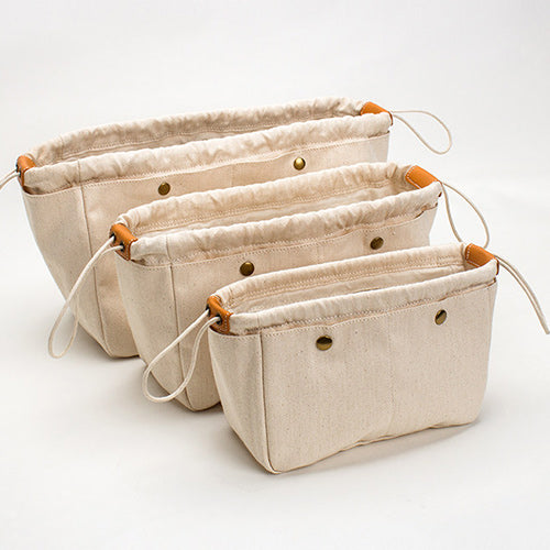 Canvas Bag Inner Storage Organizer Pouch Insert Purse Tidy Travel Cosmetic Pocket - Annie Jewel