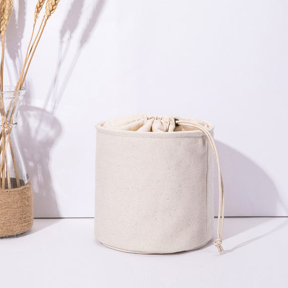 "6"" Canvas Drawstring Bucket Bag Inner Storage Organizer Pouch Insert Purse Pocket - Annie Jewel"