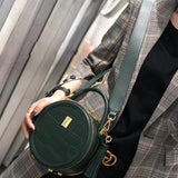 Green Circle Handle Bag Small Round Purse Round Shoulder Bag - Annie Jewel
