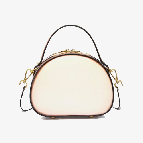 White Round Leather Shoulder Bags - Annie Jewel