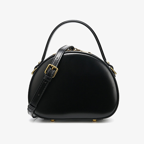 Small Circle Black Round Shoulder Bags - Annie Jewel