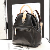 Cute Leather Backpacks Pocketbook Zip Women's Small Backpack Purse - Annie Jewel