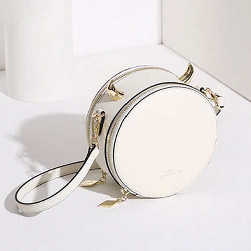 Cute Leather Small Circle Round Purses Crossbody Bags - Annie Jewel