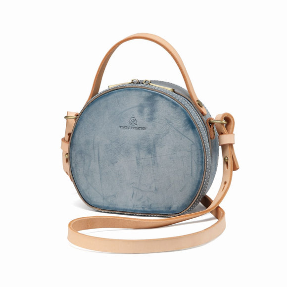 Foggy Leather Circle Round Shoulder Bags - Annie Jewel