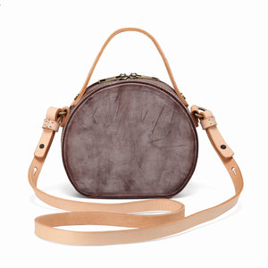 Foggy Leather Circle Round Shaped Purse Bag - Annie Jewel