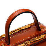Red Leather Square Satchel Handbags Purses
