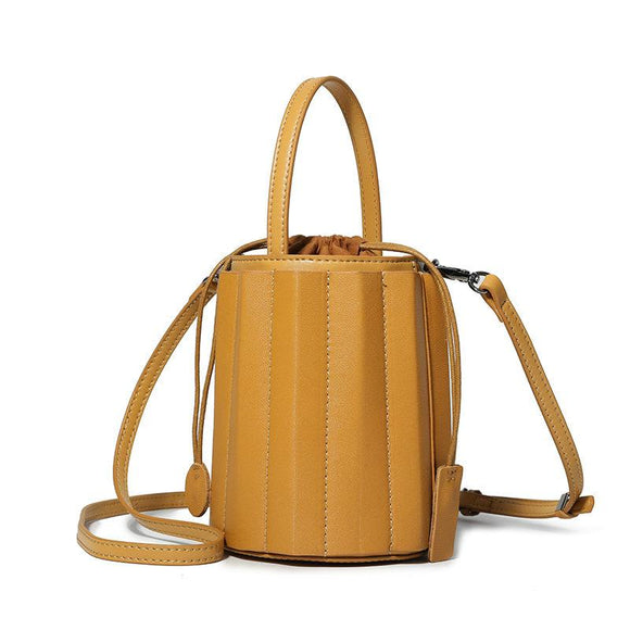 Tan Leather Bucket Bag Womens Bucket Bag Small Bucket Bag