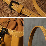 Tan Leather Bucket Bag Womens Bucket Bag Small Bucket Bag - Annie Jewel