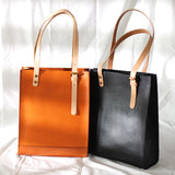 "12"" Best Leather Vertical Tote - Annie Jewel"