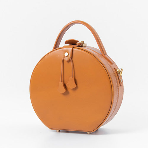 Round Leather Purse Circle Bags - Annie Jewel