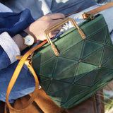 Handmade Geometric Leather Handbags Purses