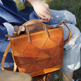 Tan Leather Handbag Small Tan Handbag Unusual Handbags Purses - Annie Jewel