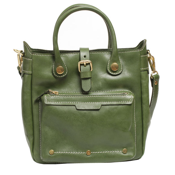 Vertical Tote Satchel Purse - Annie Jewel