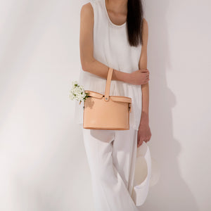 Handmade Vegetable Tanned Leather Bucket Handbags Purses
