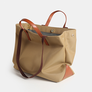 Leather Canvas Tote Shopper Bags - Annie Jewel