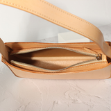 Minimal Leather Underarm Bag Purse - Annie Jewel