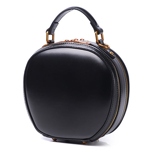 Black Circle Purse Round Shaped Purses Shoulder Circle Cross Body Bag - Annie Jewel