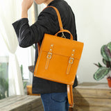 "Handmade Mens Leather Satchel 13"" Backpack Book Bag Purse - Annie Jewel"