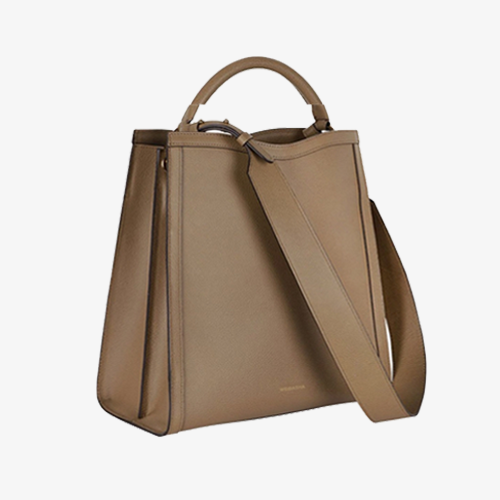 Minimal Leather Tote Bucket Bags Purses - Annie Jewel