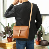 Handmade Personalized Leather Satchel Messenger Bag Purse - Annie Jewel