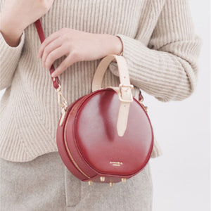 Red Circle Bag Round Purses Clutch Circle Clutch Bag