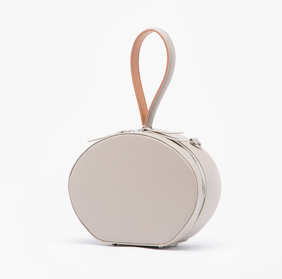 Round Leather Purse Circle Crossbody Bag Clutch Purse - Annie Jewel
