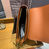 Leather Small Bucket Crossbody Bags - Annie Jewel